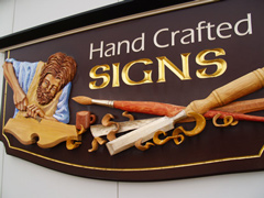 Carved Sign