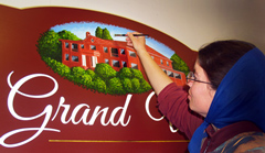 hand painted sign art