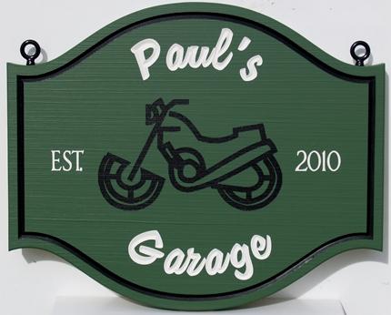 Carved Faux Redwood Sign