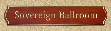 Carved and Gilded Redwood Sign