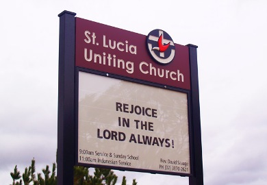 St Lucia Sign