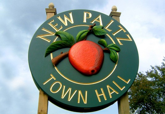 New Paltz Town Hall Sign