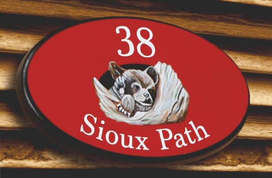 38 Sioux Path House Sign