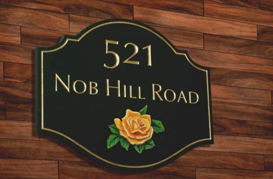 Nob Hill road House Number Sign