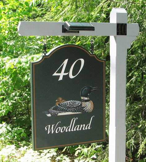 40 Woodland Property Sign On Site