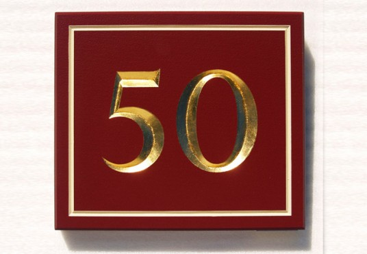 50 House Door Sign