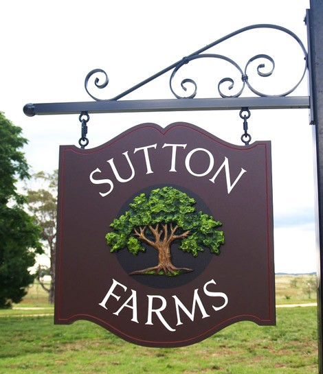 Sutton Farms Hanging Sign