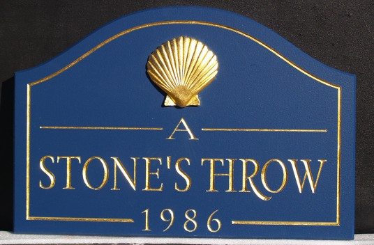 A Stone's Throw Beach House Sign