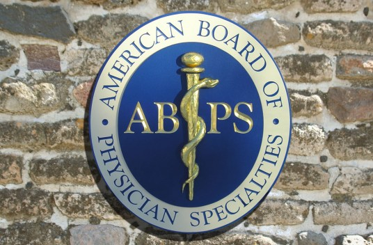 The American Board of Physician Specialties Medical Office Sign
