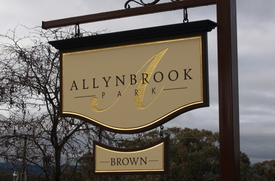 Allynbrook Park Hanging Sign
