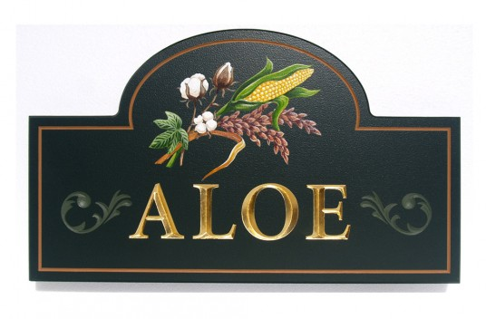 Aloe House Name Sign