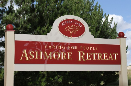 Ashmore Retreat Entry Sign