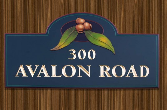 Avalon Road House Number Sign