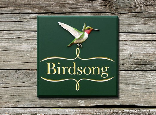 Birdsong House Sign