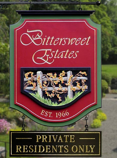 Bittersweet Apartment Sign