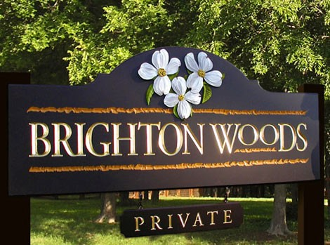 Brighton Woods Entrance Sign