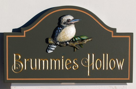 Brummie's Hollow House Name Sign