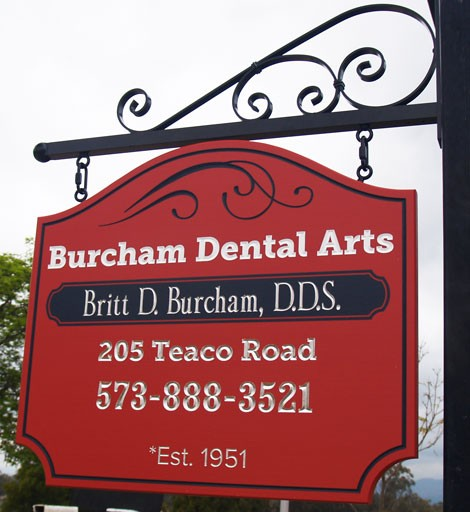 Burcham Dental Office Sign
