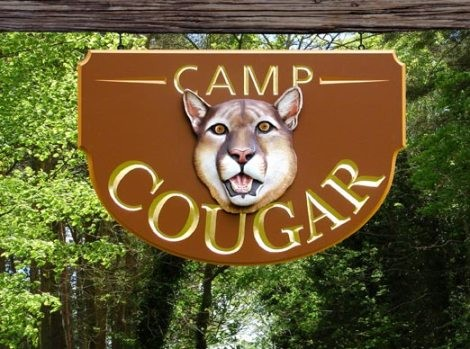 Camp Cougar Sign