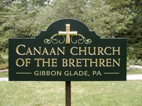 Canaan Church Sign