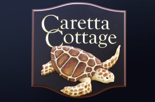Caretta Cottage Sign