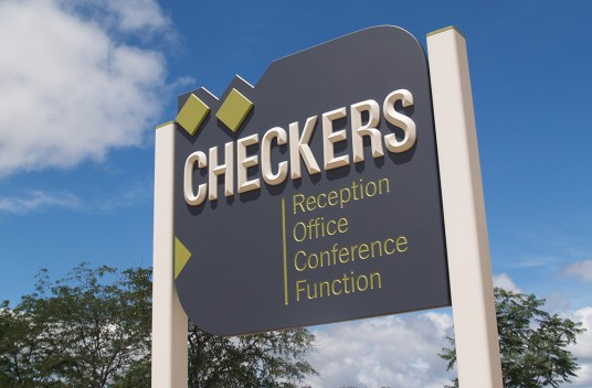 Checkers Resort Sign