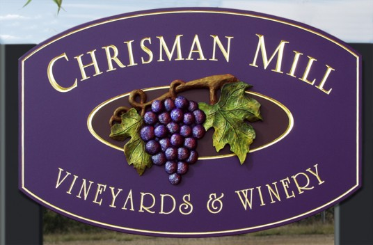 Chrisman Mill Winery Sign