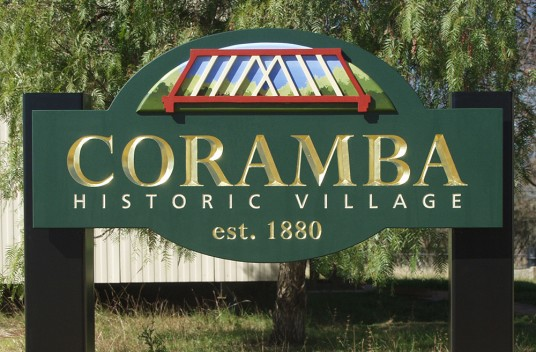 Coramba Village Welcome Sign