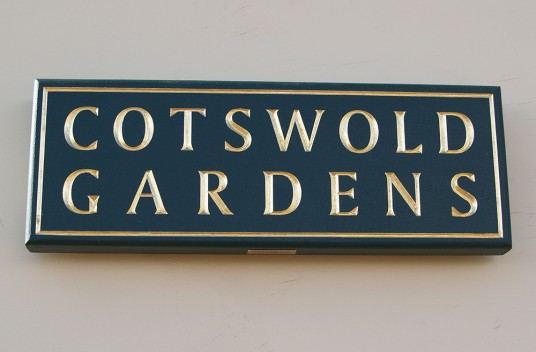 Cotswold Gardens House Name Sign