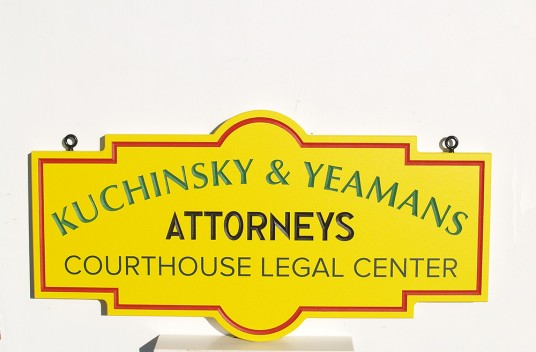 Courthouse Legal Center Office Sign