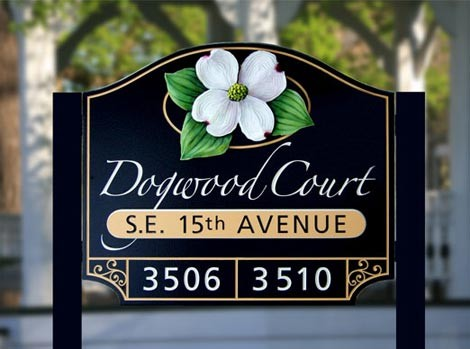 Dogwood Court Entrance Sign