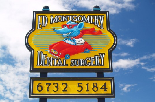 Ed Montgomery Dental Sign