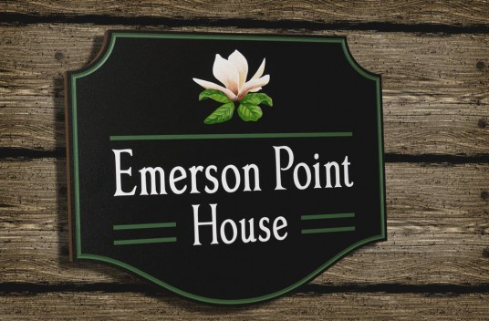 Emerson Point House Sign | Danthonia Designs