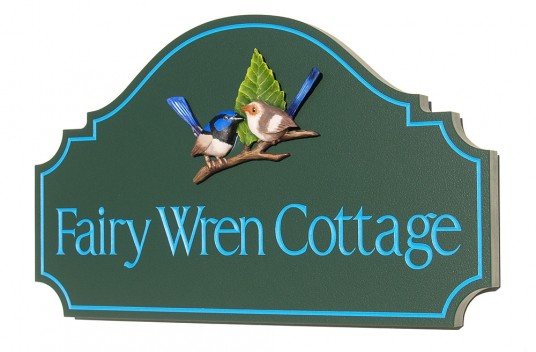 Fairy Wren Cottage Sign