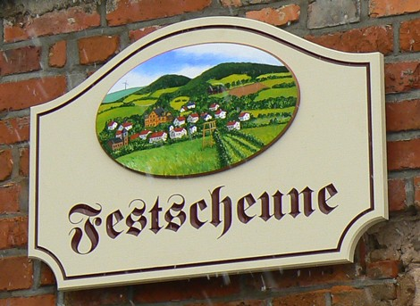 Festscheune House Sign