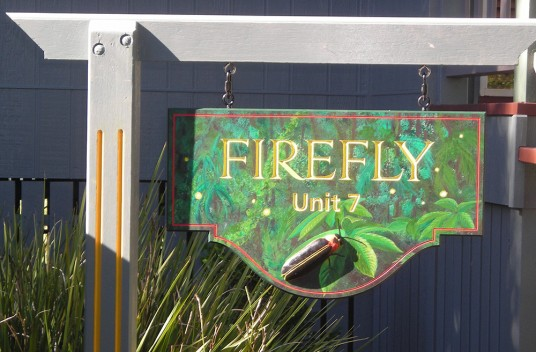 Firefly Apartment Sign