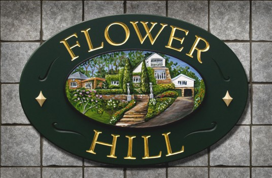 Flower Hill House Sign | Danthonia Designs