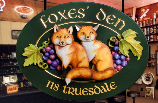 Foxes' Den Man Cave Sign