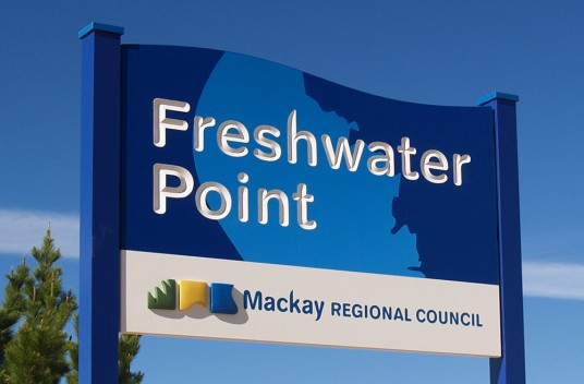 Freshwater Point Town Welcome Sign
