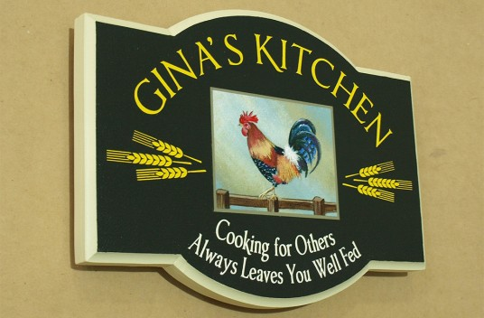 Gina's Kitchen House Sign