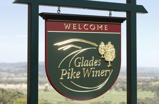 Glades Pike Winery Sign