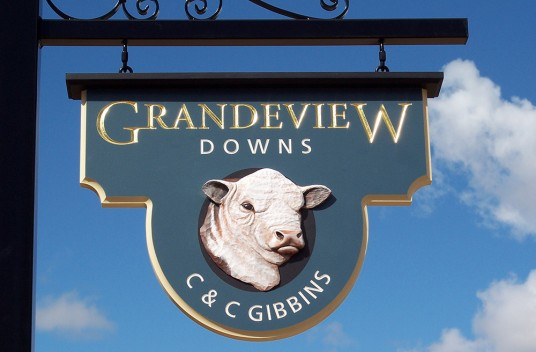 Grandeview Downs Farm Sign