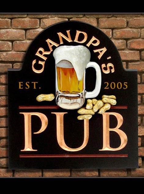 Grandpa's Bar & Pub Sign
