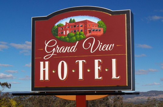 Grand View Hotel Sign
