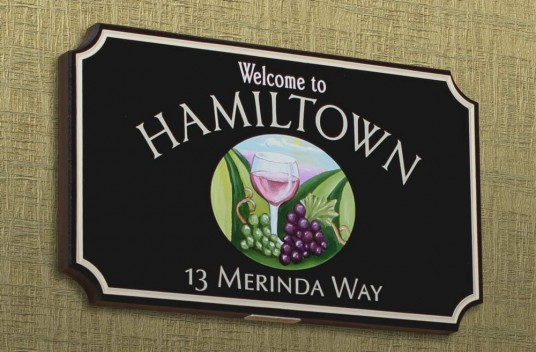 Hamiltown Welcome Sign