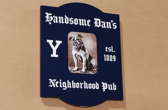 Handsome Dan's Pub Sign