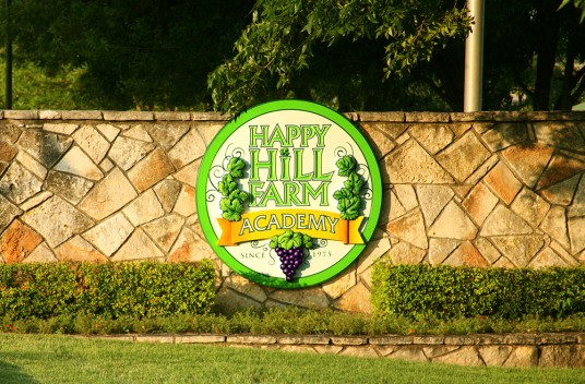Happy Hill Academy Sign