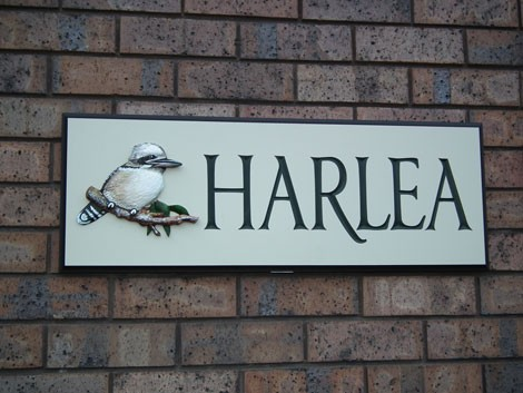 Harlea House Sign On Site