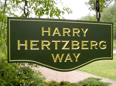 Harry Hertzberg Way Street Sign