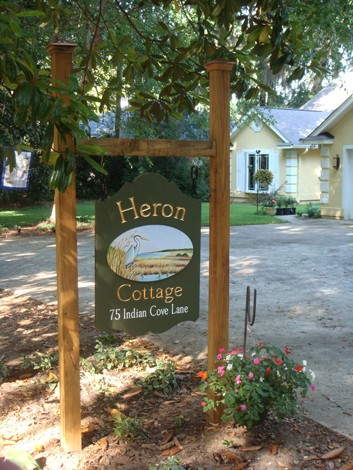 Heron Cottage Sign